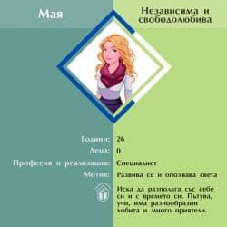 Мая - Независима и свободолюбива